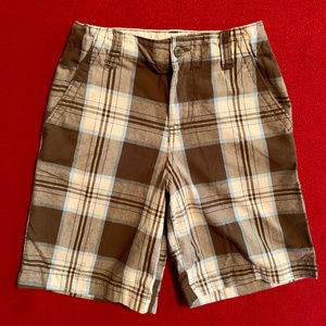 Faded Glory flat front plaid shorts
